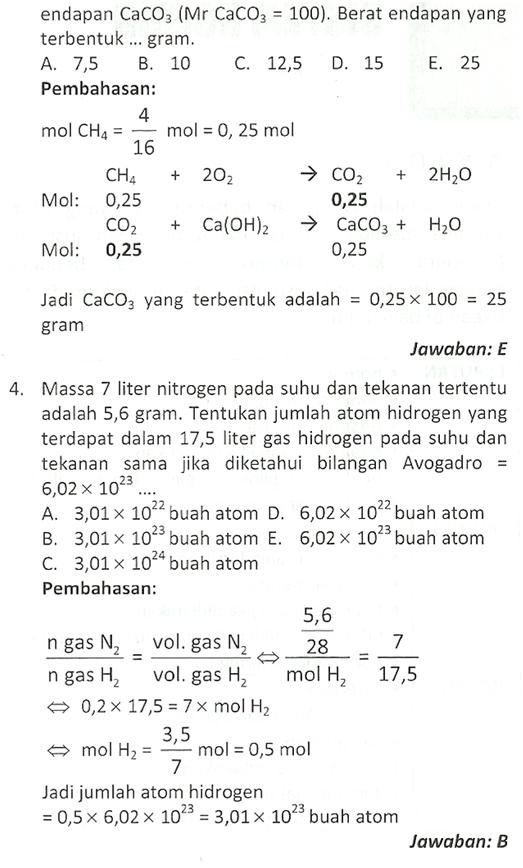 Contoh Soal Kimia : contoh, kimia, Kimia, Konsep, Stoikiometri, SBMPTN, PEMBAHASAN, [PDF]