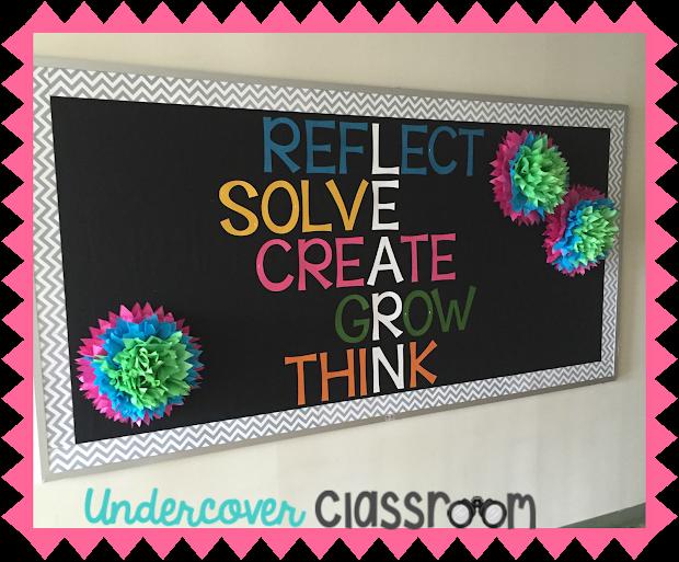 Undercover Classroom Growth Mindset Bulletin Board