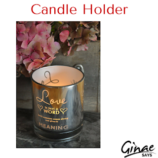 Candle Holder with Romantic Love Quote