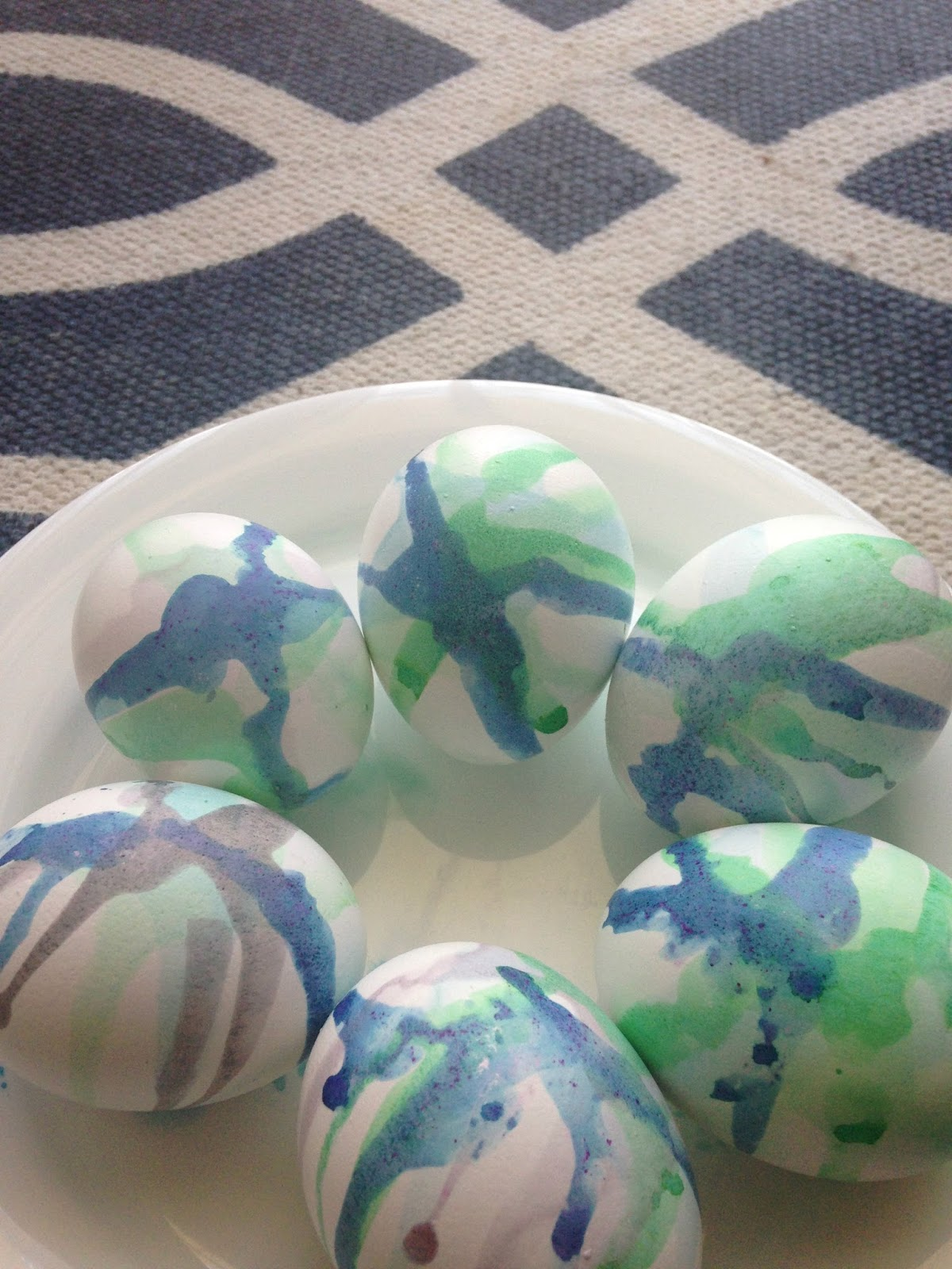 tie dye watercolor easter egg