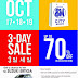 Spend + Save + Win= SM Baguio 3-Day Sale on Oct 17-19