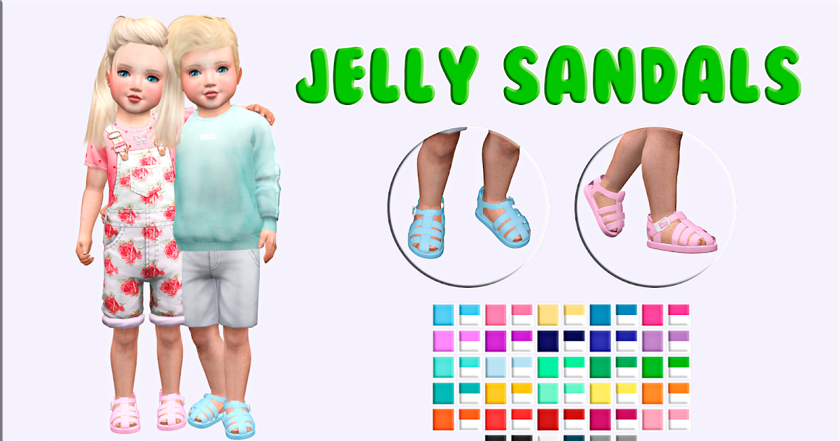 Miguel Creations Ts4 Jelly Sandals