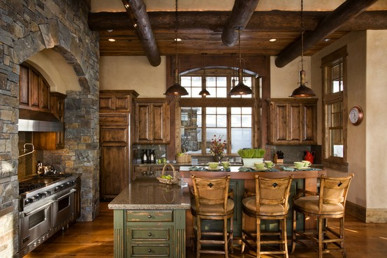 Grand Fireplace W Vaulted Ceilings Beams Open Floor: Rustic Ceiling Beams: Old World Ceiling Design