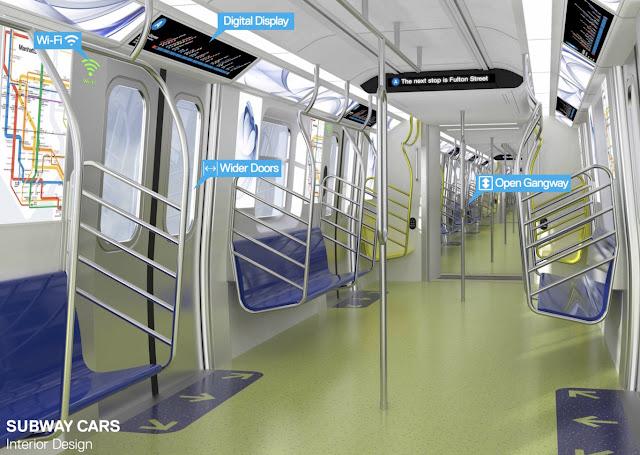 Interior vagones - WiFi y pantallas digitales