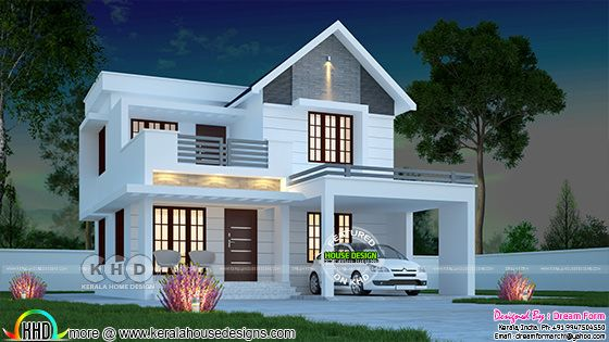 1574 sq-ft awesome architecture Kerala home design
