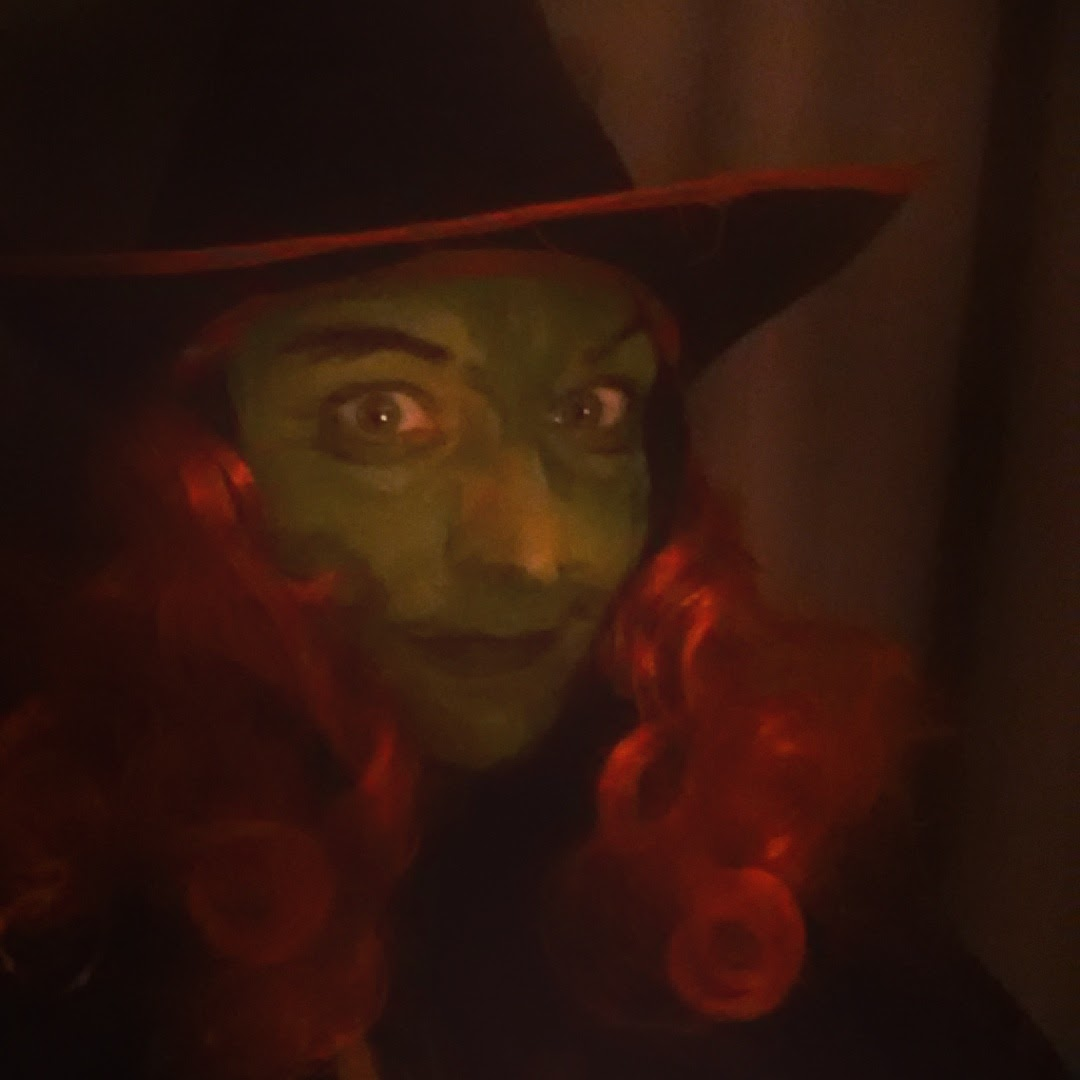 Halloween 2014 Pumpkins Witches Apple Bobbing Party Green Witch Red Hair