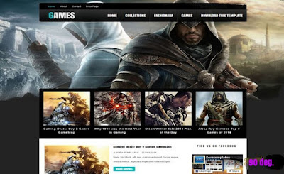 Dark Mag Games Blogger Template