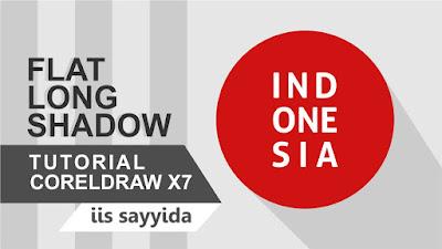 Cara membuat Flat Long Shadow di Coreldraw X7