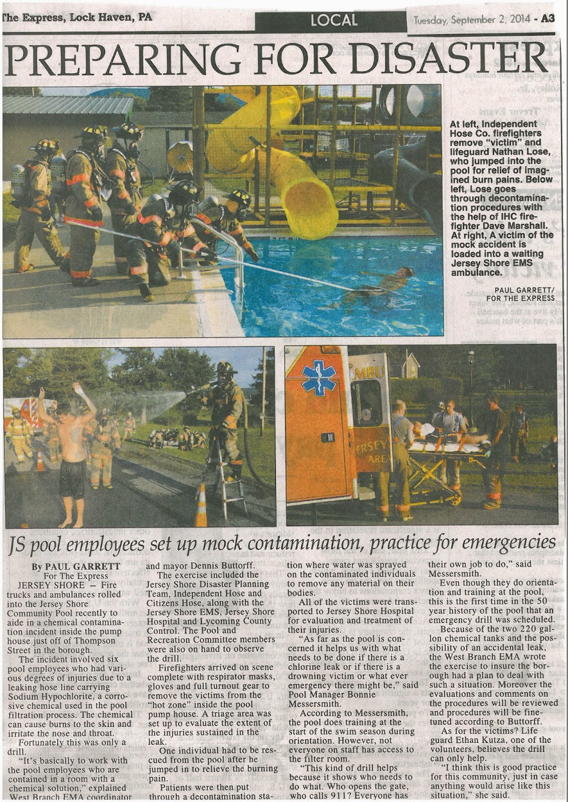 Jersey Shore Pa Swim Jersey Shore Pool Used For Disaster Training News, obituaries, letters to the editor, and community news. jersey shore pa swim jersey shore pool used for disaster training