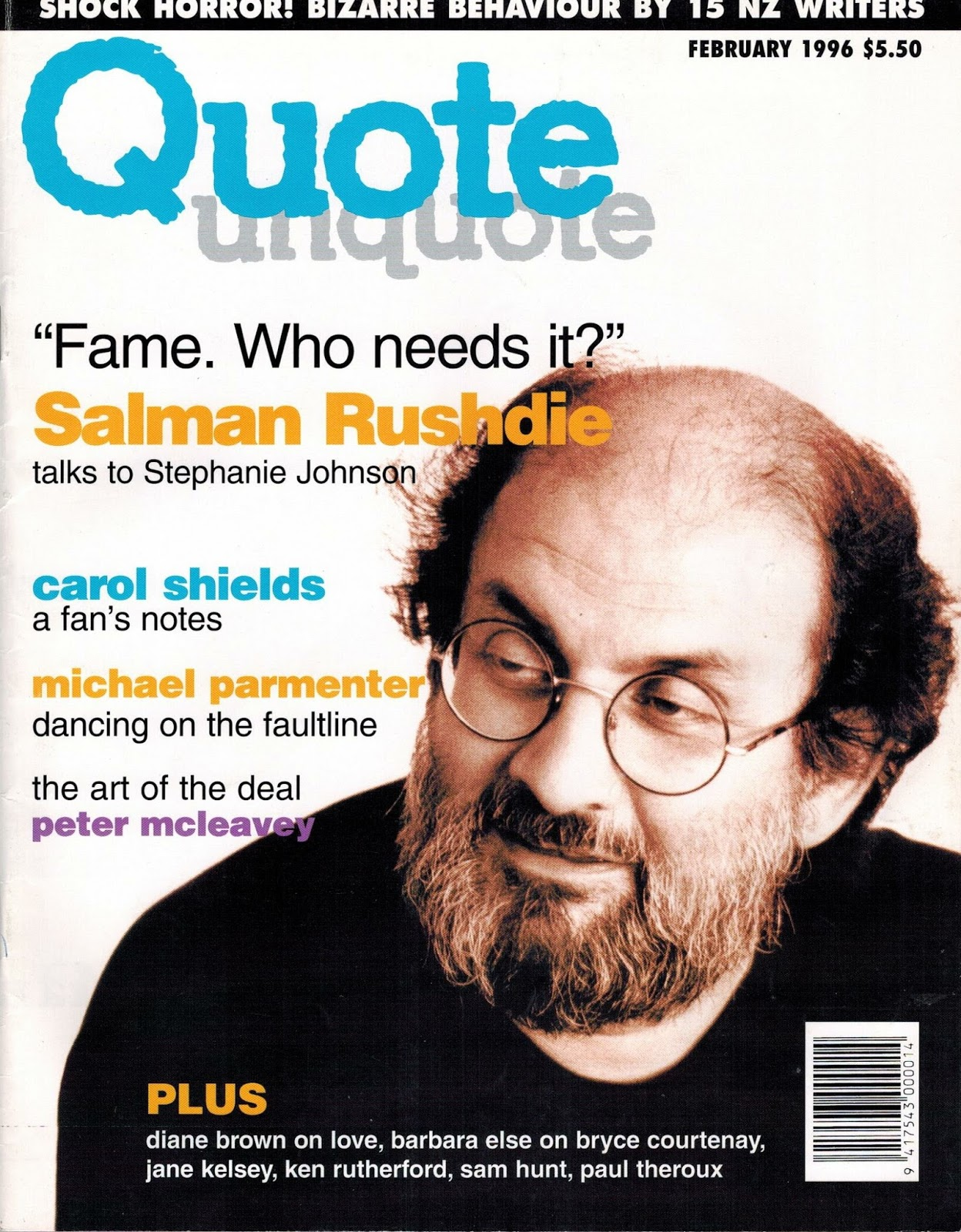 The Art Of The Deal Quotes Quote Unquote Stephanie Johnson On Salman Rushdie