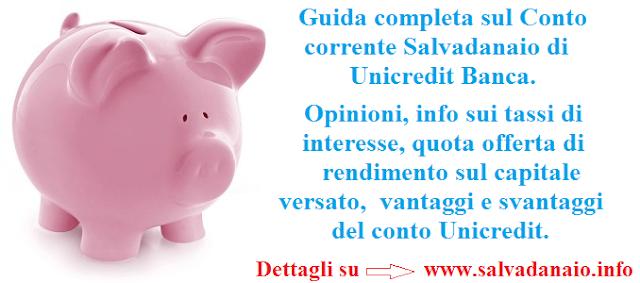 Conto corrente salvadanaio Unicredit opinioni