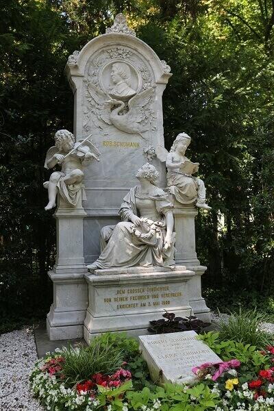 Komponist Robert Schumann Grabstätte Friedhof Bonn / eigene kleine Welt