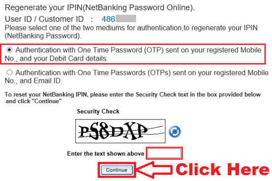 how to generate hdfc netbanking pin