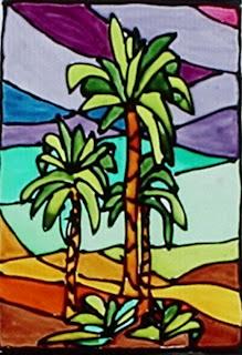 Ceramiche edintorni pittura su vetro