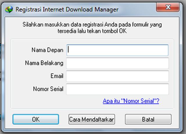 Cara Mudah Memasukan Serial Number IDM Aktif Selamanya