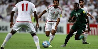 موعد مباراة الامارات والسعودية اليوم والقنوات الناقلة