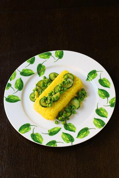 sformato riso ricotta piselli zucchine