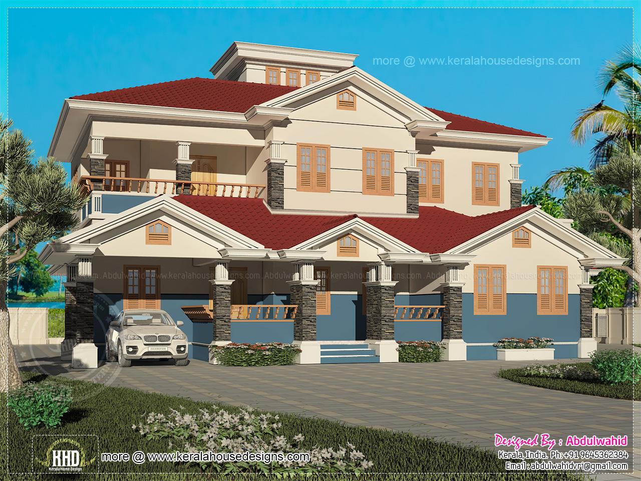 232 square meter 4 bedroom villa design kerala home for 2500 to 3000 sq ft homes