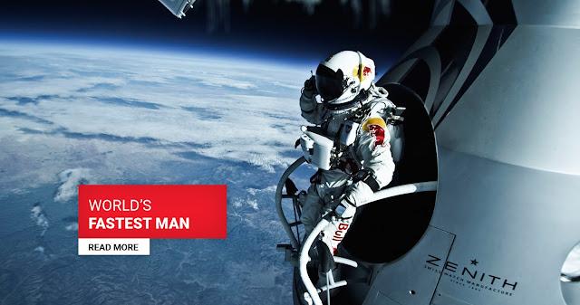 Felix Baumgartner se preparando para um salto da extratosfera