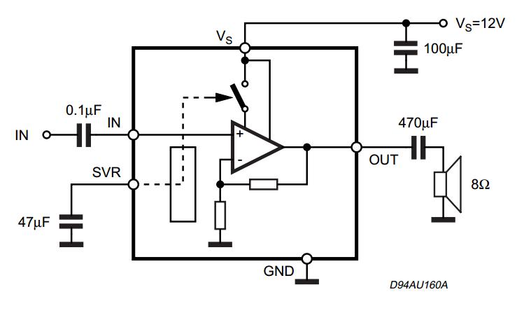 Circuit Wiring Solution: SOUND 2W MONO AMPLIFIER TDA7299