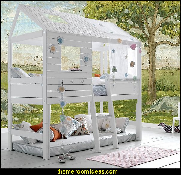 Silversparkle High Hut Bed girls treehouse theme bedroom