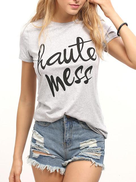 Haute Mess Printed T-Shirt