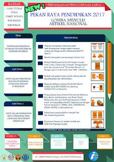 Perpanjangan Lomba Artikel Nasional tingkat Mahasiswa 2017