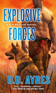 romance novel cover, romantic suspense, Explosive Forces by D.D. Ayres