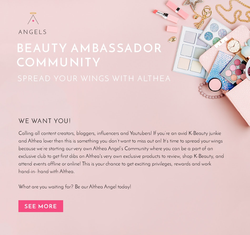 Althea Korea is Now Looking for Beauty Ambassadors!