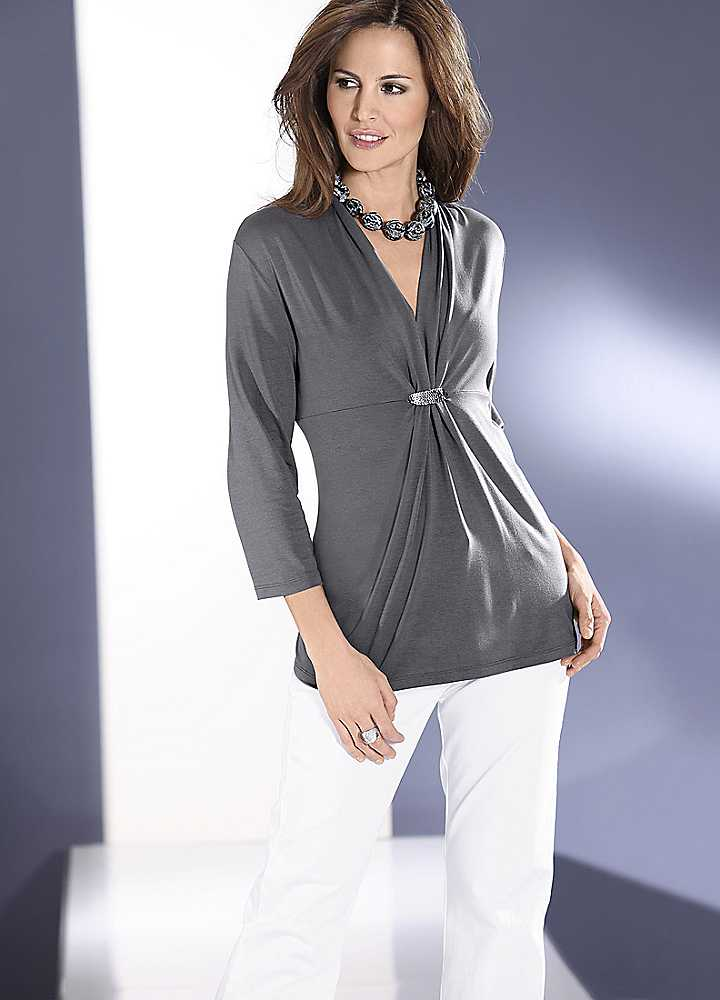 WOMEN'S TUNIC TOPS WEAR BLOUSES : Fashionable Image Of