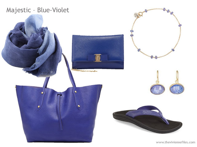 Adding Accessories to a Capsule Wardrobe in 13 color families -  violet