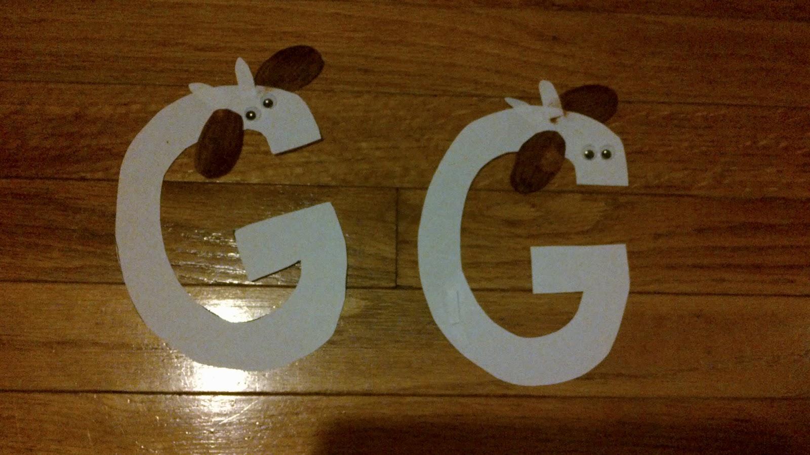 Acorns 2 Oaks Preschool Letter G Week