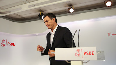 Pedro Sánchez, exsecretario general del PSOE, tras entregar su acta de diputado el pasado sábadoSusana VeraReuters