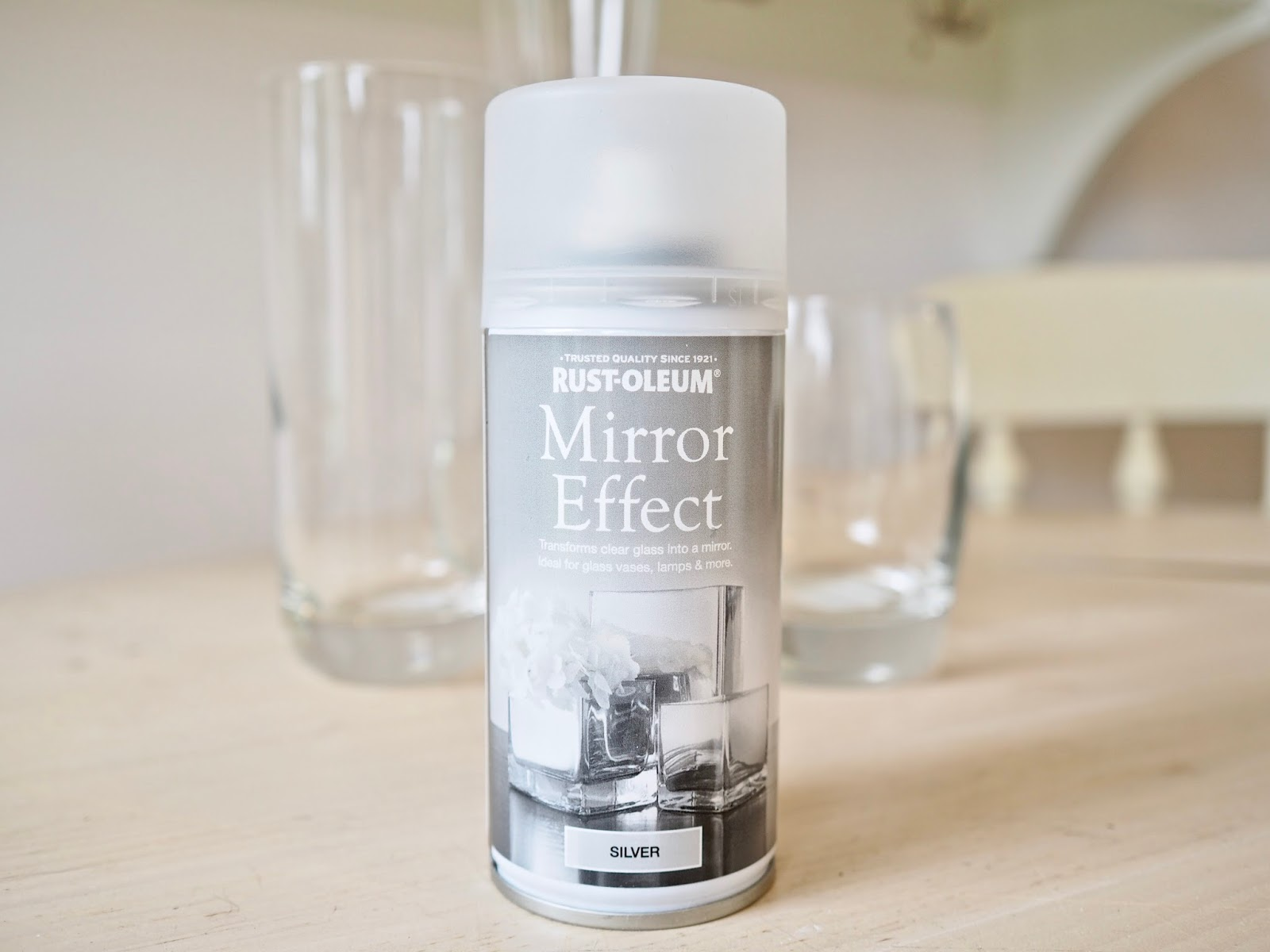 Mirrored Spray Paint Mercury Glass Effect Diy The