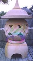 Lampion taman minimalis bunga satu
