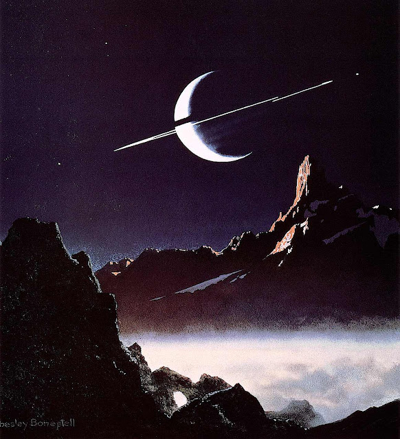 Chesley Bonestell illustration of other world
