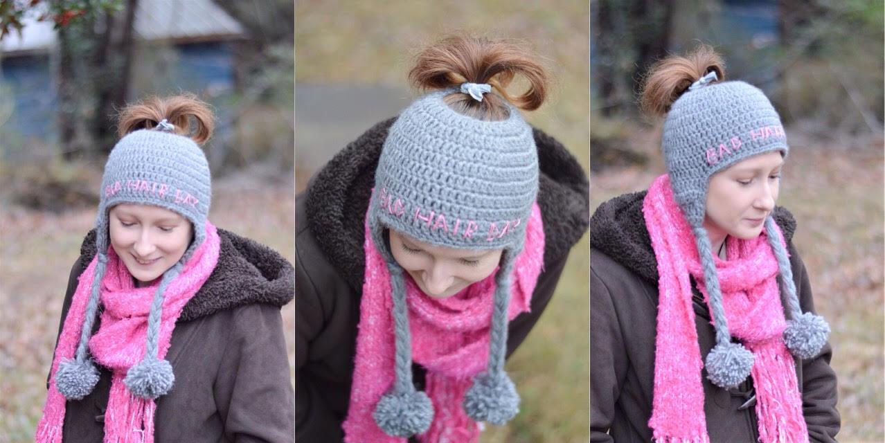 With Alex: Messy Bun Ear Flap Hat Free Crochet Pattern!