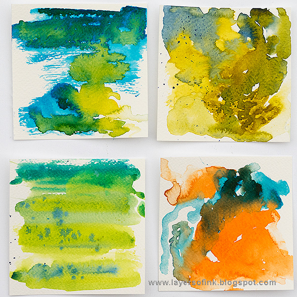 Layers of ink - Watercolor Mini Panels by Anna-Karin Evaldsson