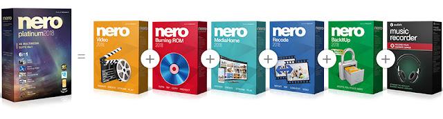 Nero Platinum 2018 Suite v19.0.10200 + Content Packs Full version