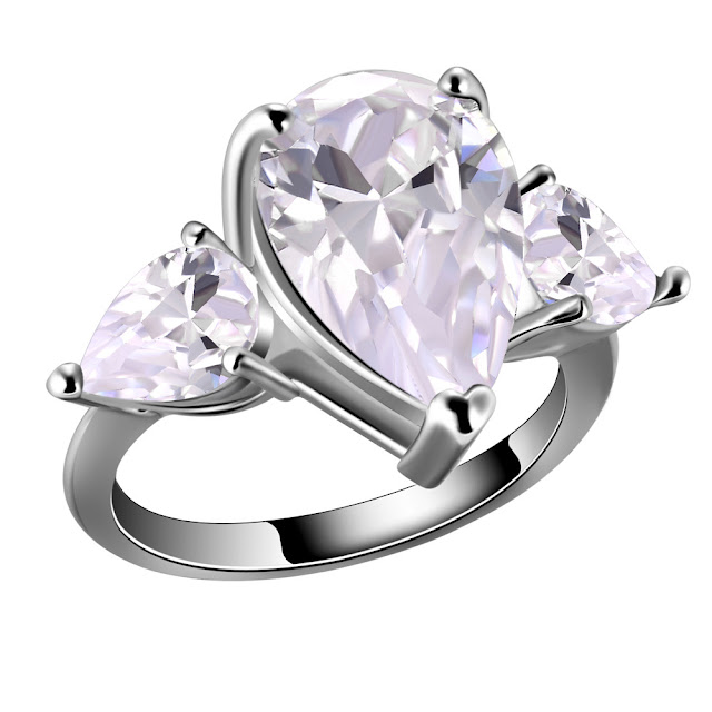 Mimeng R70 Pear Shaped Engagement Ring
