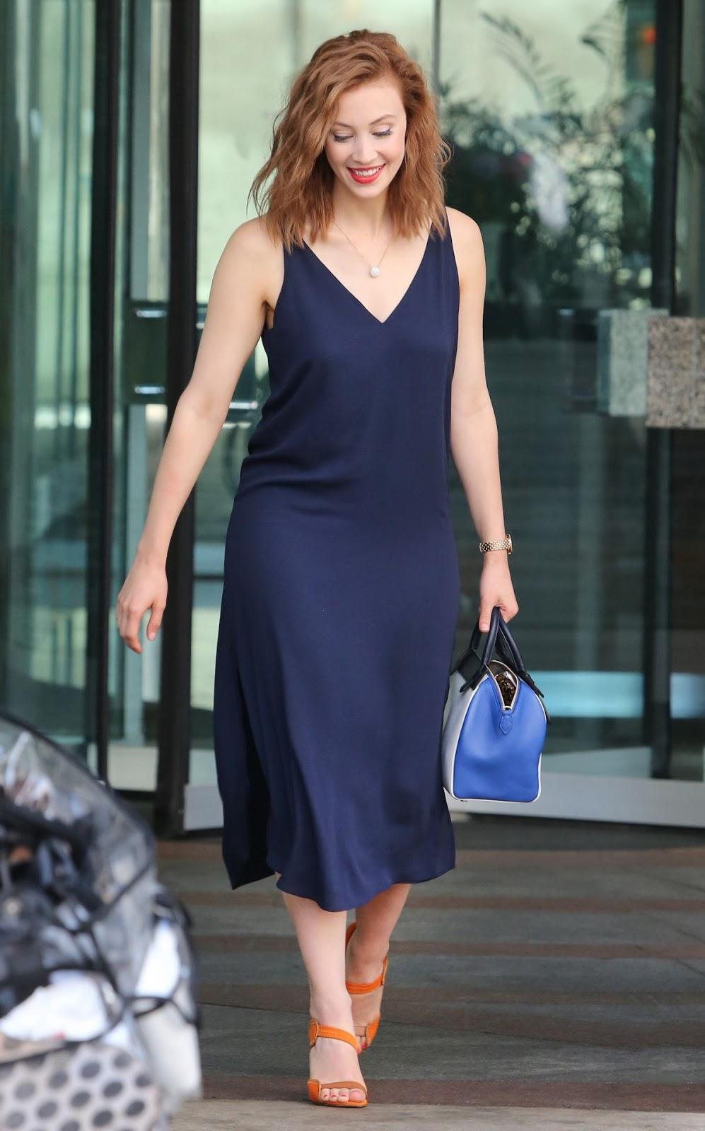 Indignation actress Sarah Gadon Leaves Global Morning Show Studios in Toronto