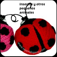 Insectos amigurumi