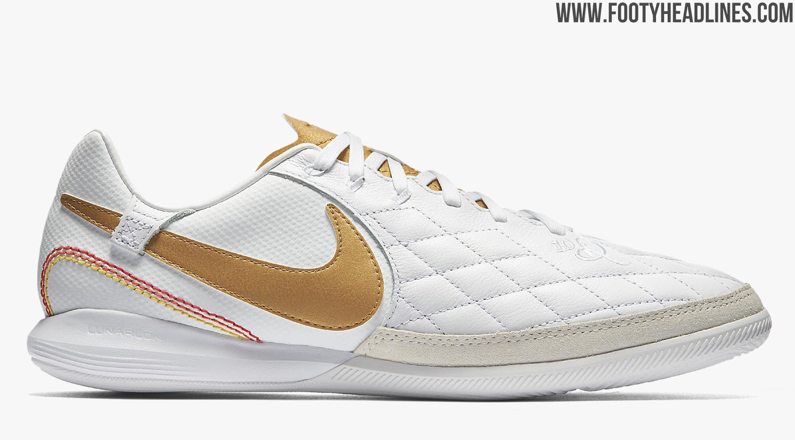 the latest ae548 abc78 White / Gold Nike TiempoX Ronaldinho 'Barcelona' Boots ...