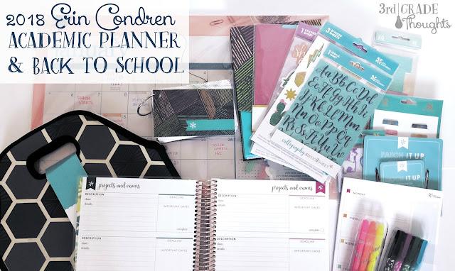 Review 2018 Erin Condren Academic Planner Back To School Goodies