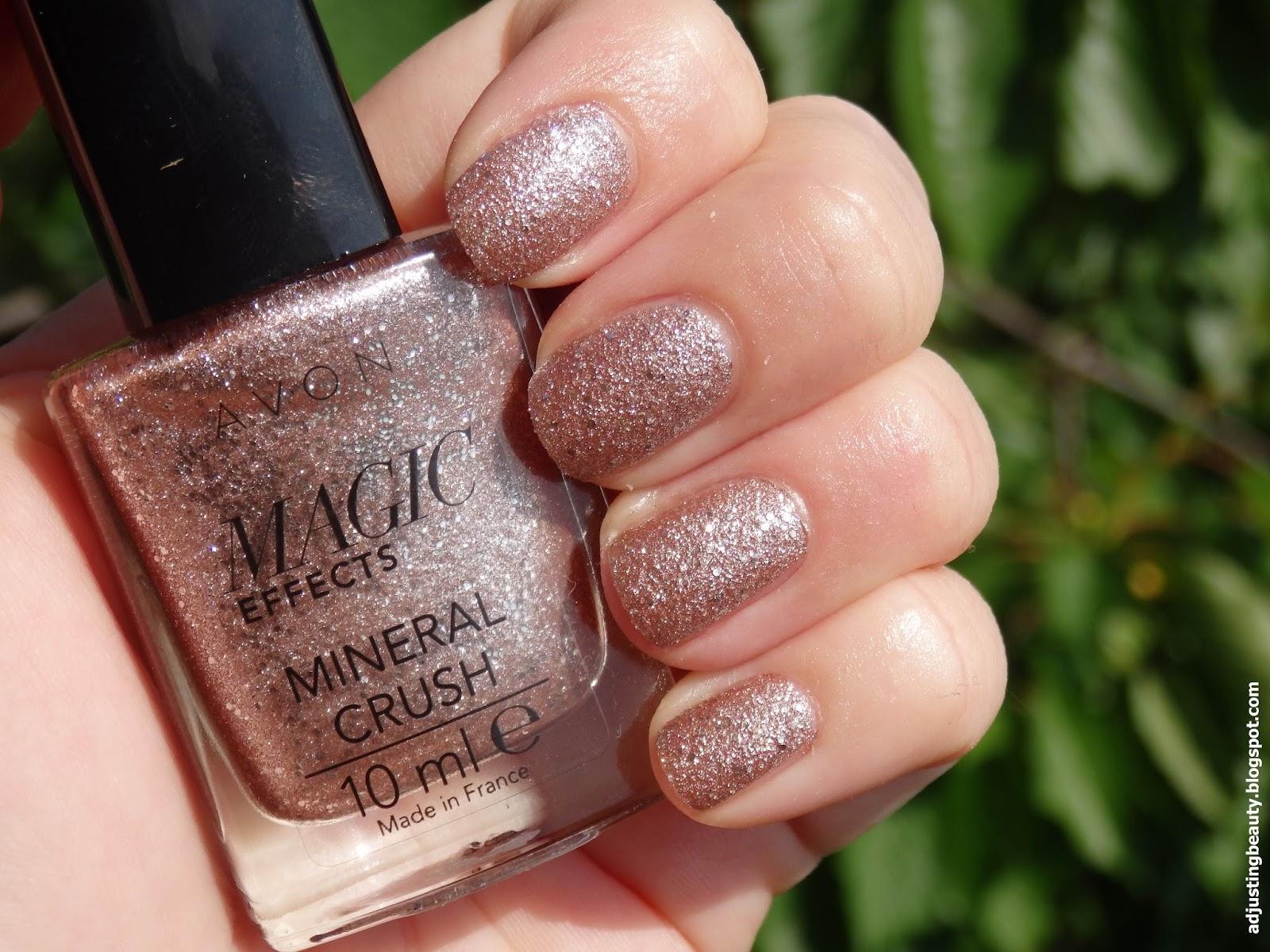 Review Avon Magic Effects Mineral Crush Nail Polishes Diamond Topez Pearl Rose Quartz