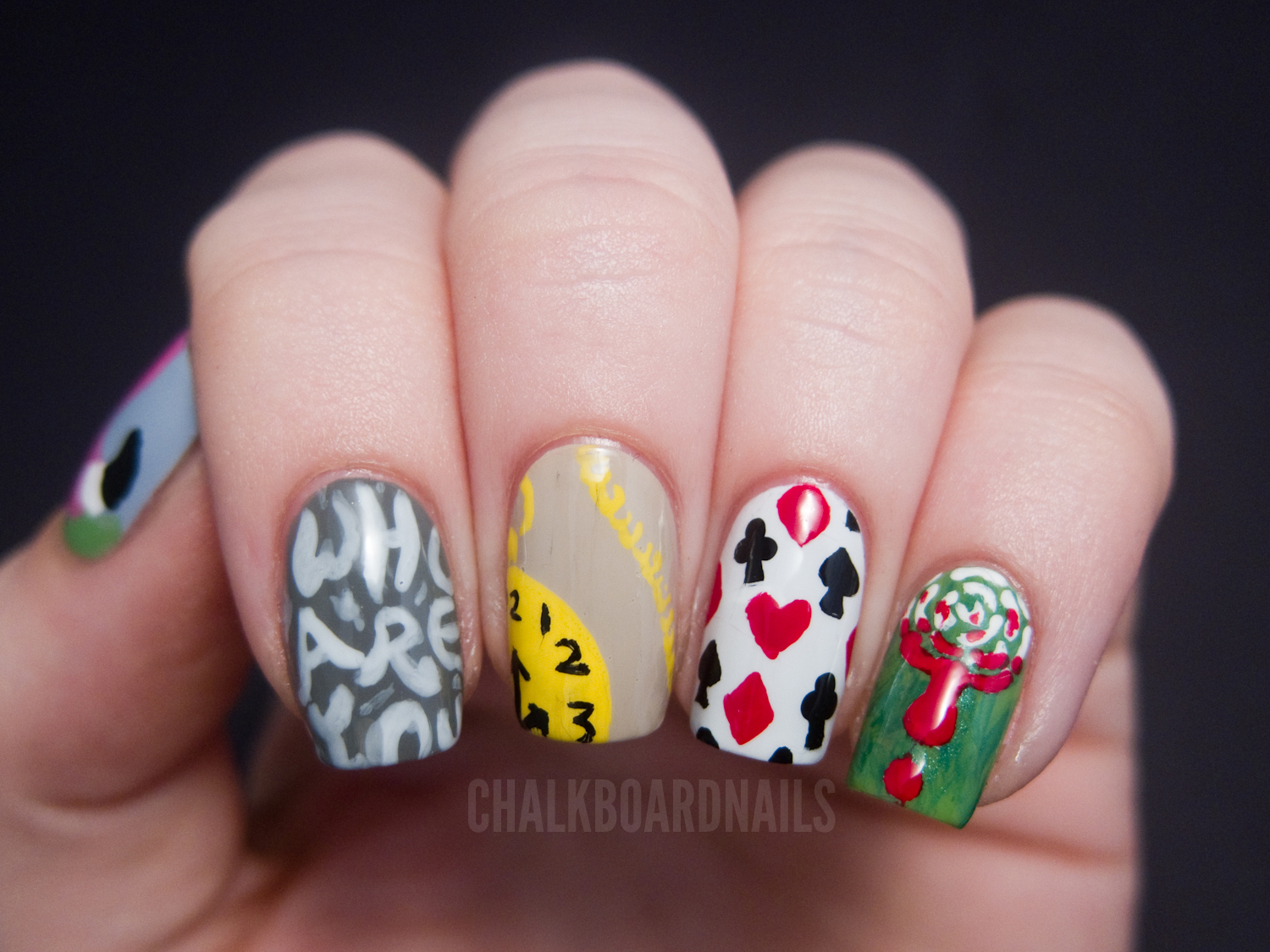 The gallery for --> Alice In Wonderland Nail Art