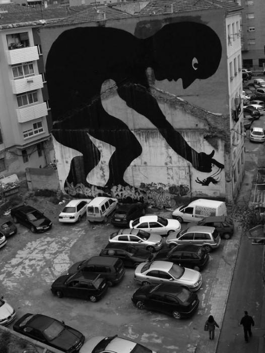 Фотографии работ уличного художника. Sam3 3