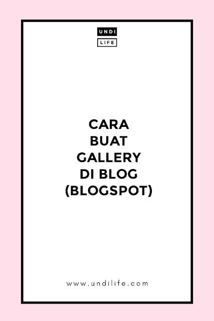 Buat gallery di blog