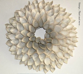 Vintage, Paint and more... diy book page wreath tutorial