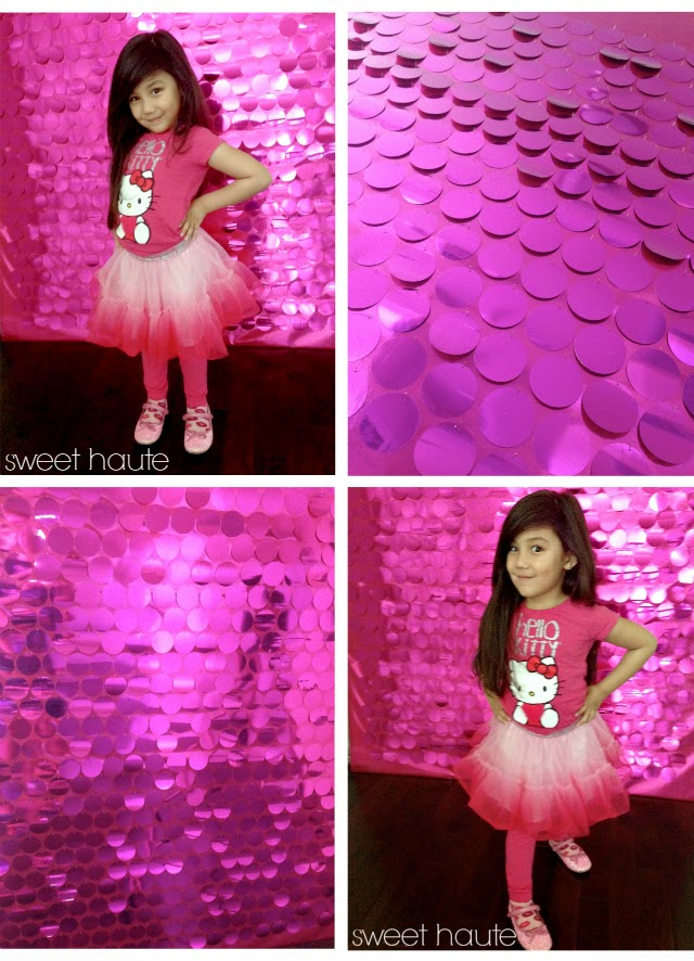 pink sequin photo booth backdrop